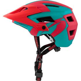 ONeal Defender 2.0 Helmet SLIVER teal/red